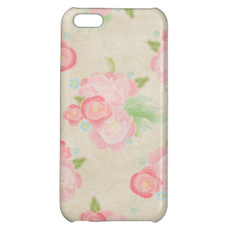 Blush Pink Watercolor Roses Shabby Chic iPhone 5C Covers