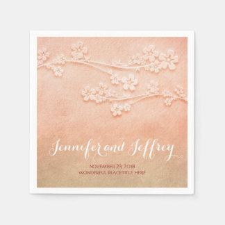blush pink watercolor wedding paper napkins disposable napkins