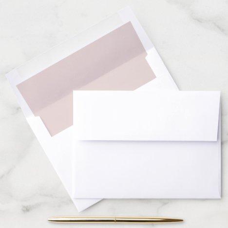 Blush Pink Wedding Envelope Liner