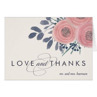 Blush Poppies Thank You Card