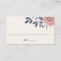Blush Poppies Wedding Escort Place Cards