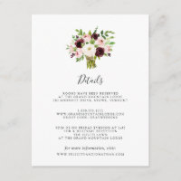 Blush Romance Guest Information Card