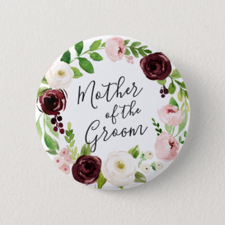 Blush Romance Mother of the Groom Button