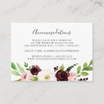 Blush Romance | Wedding Hotel Accommodation Cards