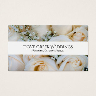 Blush Rose Baby's Breath Floral Business Card