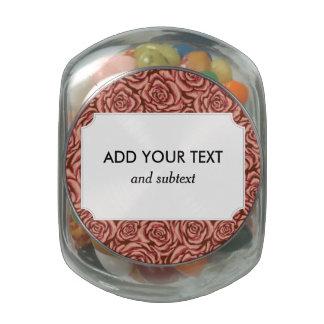 Blush Rose Glass Candy Jar