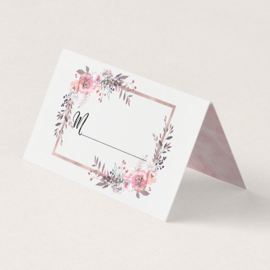 Blush Rose Gold Framed Table Number Seating Name Place Card