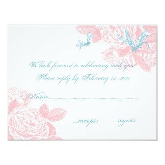 Blush Rose RSVP Card