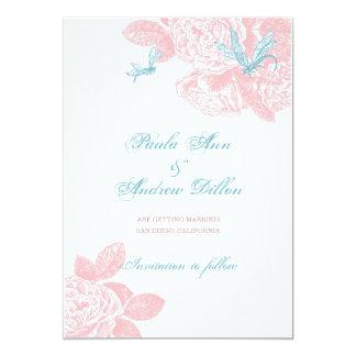 Blush Rose Save the Date Card