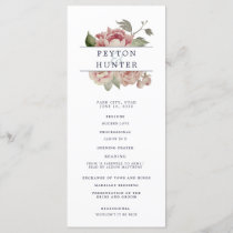 Blush Rose Wedding Ceremony Program