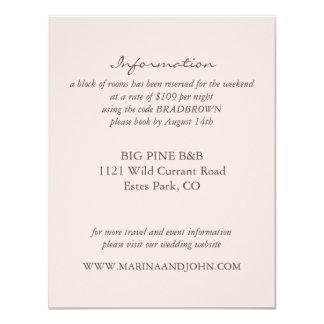 Blush Rustic Monogram Wreath Wedding Info Card