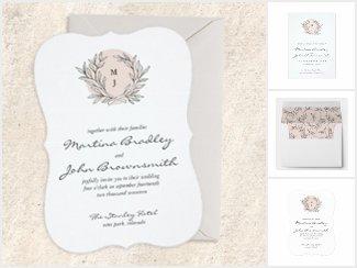 Blush Rustic Wreath Wedding