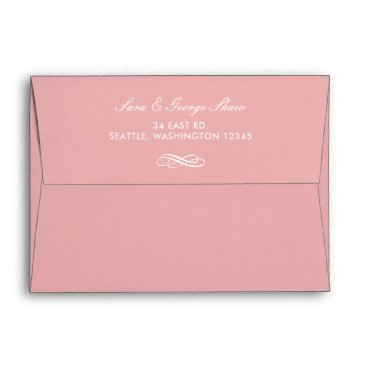 Blush Simple Wedding Invitations Envelope