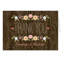 Blush String of Lights Fall Rustic Thank You