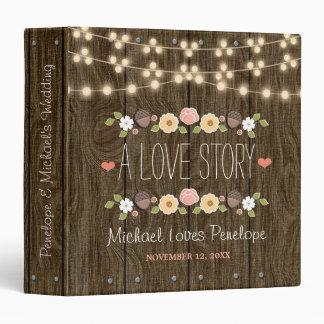 Blush String of Lights Rustic Fall Wedding Binder