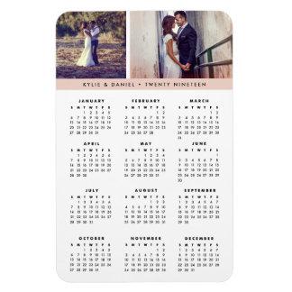 Blush Stripe 2019 Photo Calendar Magnet