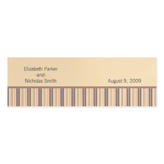 Blush Stripe Flourish Wedding Website Card Double-Sided Mini Business Cards (Pack Of 20)
