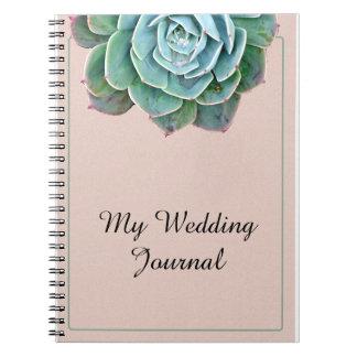 Blush Succulent Wedding Journal