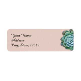 Blush Succulent Wedding Label Return Address Label