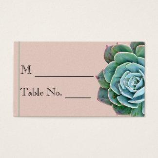 Blush Succulent Wedding Place Card