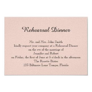 Blush Succulent Wedding Rehearsal 3.5x5 Paper Invitation Card