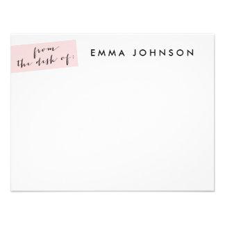 Blush Tab Flat Note Card - dot backer