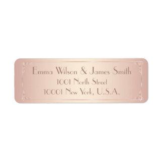 Blush Vintage Wedding Return Address Labels