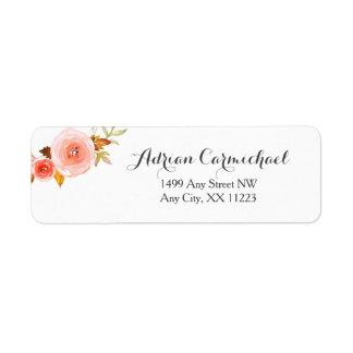 Blush Watercolor Floral wedding bridal shower Label