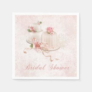 wedding cake paper napkins zazzle. Black Bedroom Furniture Sets. Home Design Ideas
