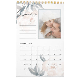 Blush Whisper | 12 Photo Calendar with Notes