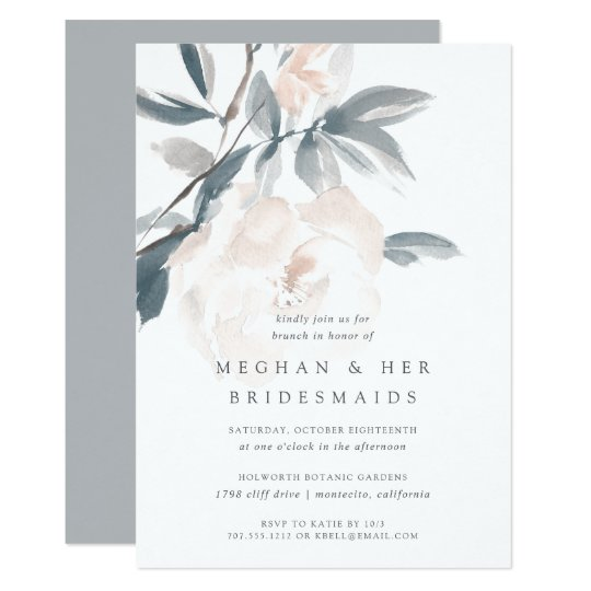 blush whisper bridesmaids brunch invitation zazzle com