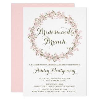 Blush Winter Wreath Bridesmaids Brunch Invitation