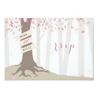 Blush Woodland Wedding RSVP Card