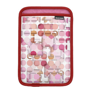 Blusher Pink Dots and Squares iPad Mini Sleeve