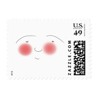 Blushes the Smiley Postage