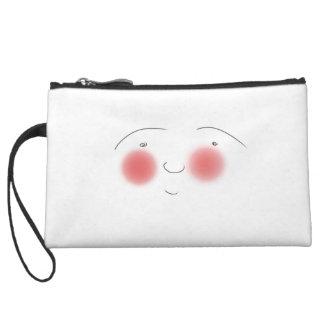 Blushes the Smiley Wristlet Wallet
