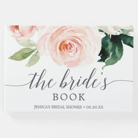 Blushing Blooms Bridal Shower Guest Book