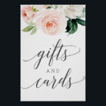 """Blushing Blooms Gifts and Cards Sign<br><div class=""""desc"""">Help your guests easily find the gift table with this lovely sign!</div>"""
