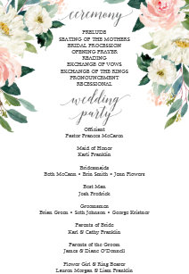 Ceremony Wedding Programs   Zazzle