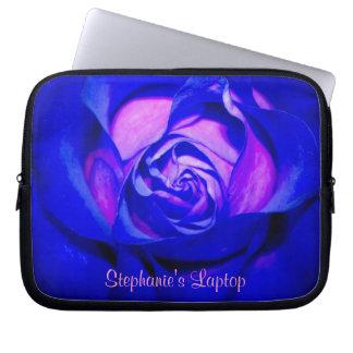 Blushing Blue Rose Laptop Sleeve *Personalize*
