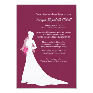Blushing Bride - Bridal Shower Invitations