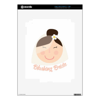 Blushing Bride Decals For iPad 2