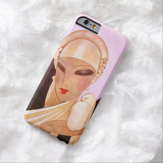Blushing Bride Vintage Art Deco Illustration Barely There iPhone 6 Case