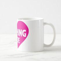 Blushing bride with heart coffee mug