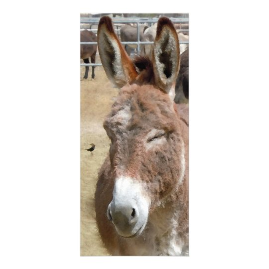 Blushing Burro - Kids Bookmarks School Supplies Rack Card