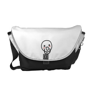 Blushing Comic Face Courier Bag