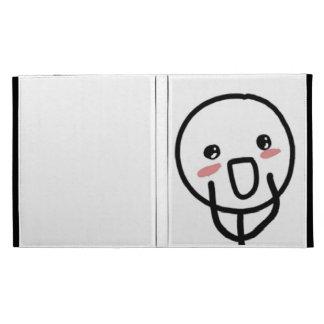 Blushing Comic Face iPad Folio Cover