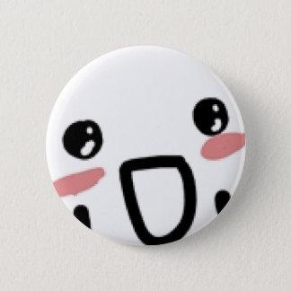 Blushing Comic Face Pinback Button