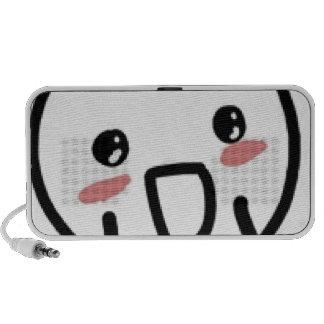 Blushing Comic Face Portable Speaker