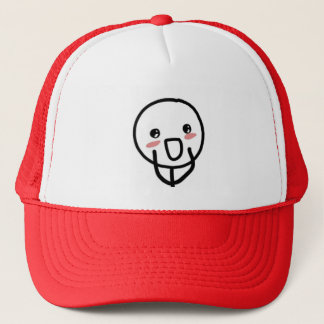 Blushing Comic Face Trucker Hat